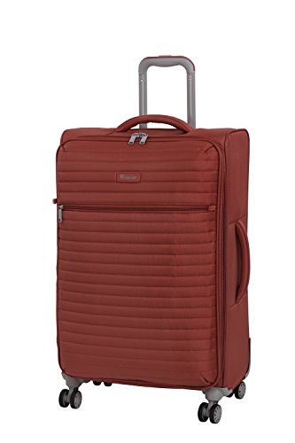 it luggage Quilte 8 Wheel Lightweight Semi Expander Suitcase Medium Koffer, 70 cm, 88 liters, Orange (Burnt Brick)