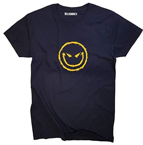 Wolkenbruch® T-Shirt Bad Smiley, Navy, Gr.XXL