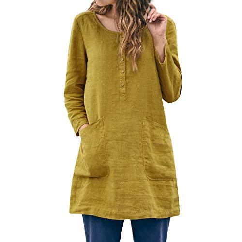 Ears Frauen Leinen Tanktops Beiläufiges Patchwork T-Shirt Hemd Tägliche weiche Bluse Oberteile O-Ausschnitt Strandoberteile Boho-Tanktops Sommer Stretch-T-Shirt Pullover Tunika Stretch Jodhpur