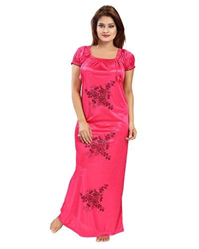 Shopping-World-Womens-Pink-Satin-Nighty-Free-SizeSolid1-Nighty