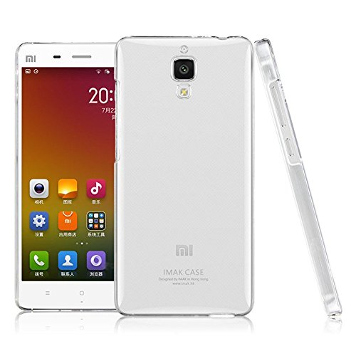 Heartly Imak Crystal Clear Hot Transparent Flip Thin Hard Bumper Best Back Case Cover For Xiaomi Miui Mi4 Mi 4