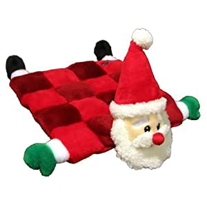 Kyjen Square Santa Squeaker Mat with 16-Squeakers, Large