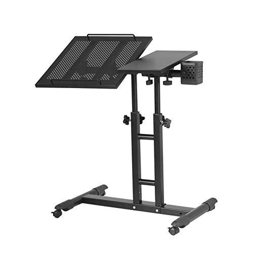 JNYZQ Tisch-Schreibtisch-tragbarer Laptop-Standplatz-Wagen mit der Maus-Brett-justierbaren Höhe 360   ° Schwenk- und 180 ° Neigungs-verschließbaren Gießmaschinen (Farbe : 3) - Schwenk Hoch Hocker