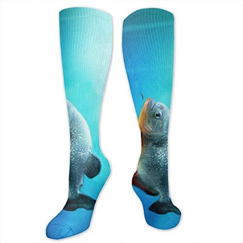 ouyjian Fische Schwimmen im Meer Persönlichkeit Spaß Muster Mode Socken Herren und Damen Socken