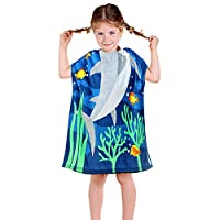 YISUN Kids Hooded Bath Beach Towel 100% Cotton Super Soft Children