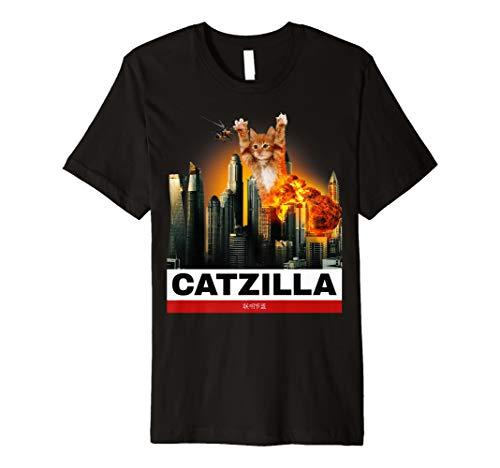 Catzilla - Lustiges Baby Katzen Tshirt zu ()