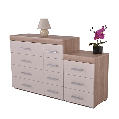 white-oak-4-4-drawer-chest-3-draw-bedside-cabinet-bedroom-furniture-new