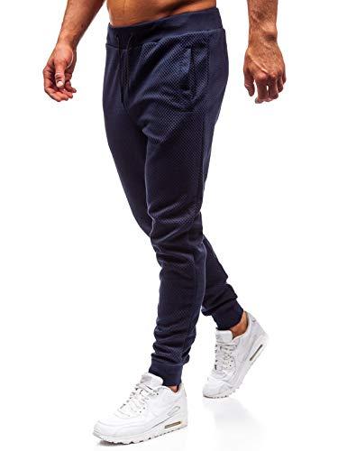 BOLF Herren Sporthose Trainingshose Jogginghose Sport Jogger Street Style J.Style 1884 Dunkelblau M [6F6] Street Sport Jogger