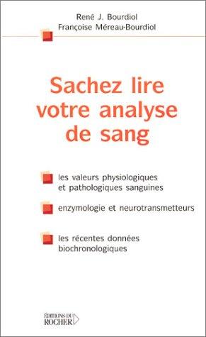 Télécharger Sachez lire votre analyse de sang PDF Fichier