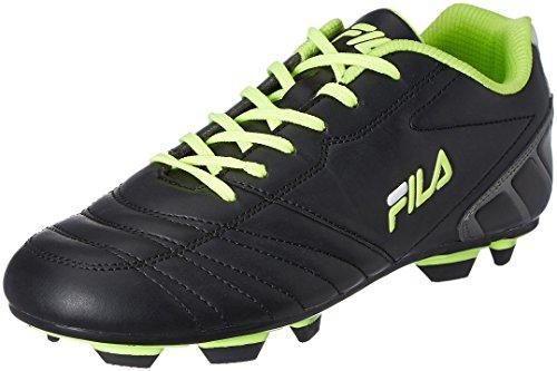 10. Fila Men's Malvalio 2 Black and Neon Green Football Boots