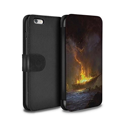 Offiziell Chris Cold PU-Leder Hülle/Case/Tasche/Cover für Apple iPhone 6S+/Plus / Pack 8pcs Muster / Gefallene Erde Kollektion Schiffswrack