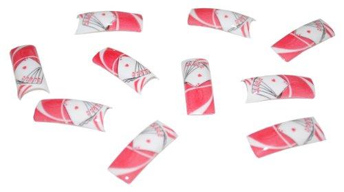 100 Faux Français acrylique Nail Art Tips Cartes à jouer