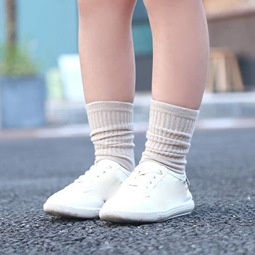 Momorain Baby Mädchen Kniehohe Socken Kleinkind Prinzessin niedlich rutschfeste Socken Candy Farbe Winter warm Dicke Socken Schuhe -