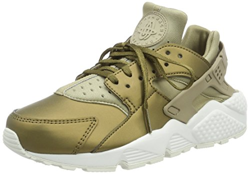 Nike Damen Air Huarache Run Prm TXT Gymnastikschuhe, Grün (Khaki/Mtlc Field/Summit White), 40.5 EU (Huarache White Womens)