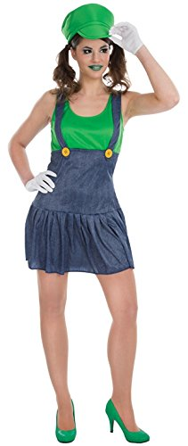 Chaks C4202x S, Kostüm Miss Klempner Grüne Damen, Größe XS
