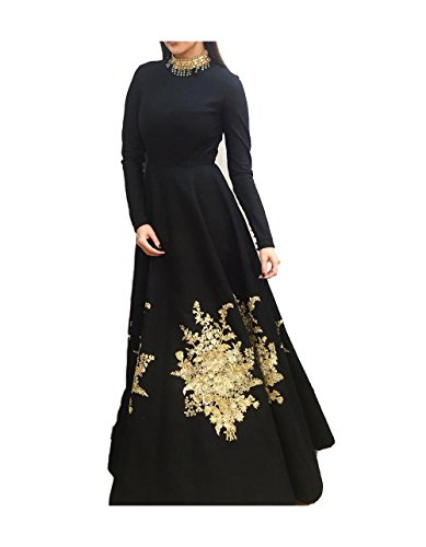 Royal Export women\'s black Embroidered gown