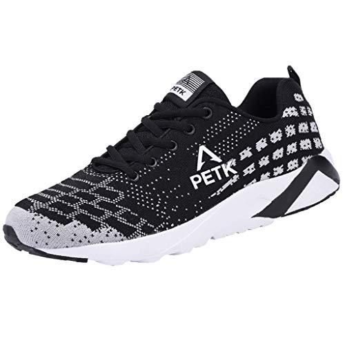 Bluestercool Uomo Scarpe Running Sneakers Casual all'Aperto Leggero Mesh Sneakers Breathable Fashion Tessuto Scarpe da Corsa
