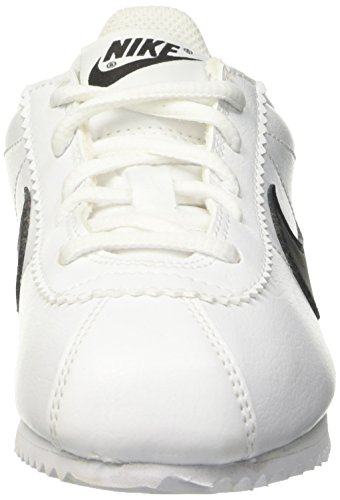 Nike Cortez (Ps), Chaussures de Running Entrainement Garçon Blanc / Noir (Blanc / Noir)