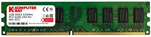 Komputerbay 1GB DDR2 533MHz PC2-4200 PC2-4300 (240 PIN) DIMM Desktop-Speicher - 1gb Ddr2 533mhz Pc2-4200