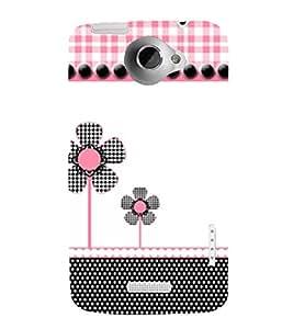 Fan Flower 3D Hard Polycarbonate Designer Back Case Cover for HTC One X