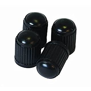 200 x Black Plastic Tyre Valve Dust Caps Car Motorbike Van Quad ATV Bike Bicycle by AllTrade Direct
