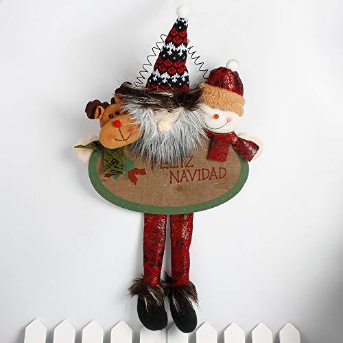 LEEDY, graziosi Ornamenti Natalizi con Ciondolo a Forma di Babbo Natale, Pupazzo di Neve, Bambole da Appendere, Decorazioni Natalizie A