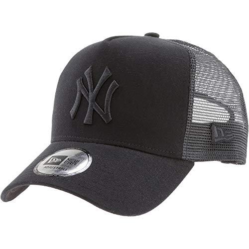 New Era Essential Jersey Trucker Cap NY Yankees Schwarz Schwarz, Size:ONE Size