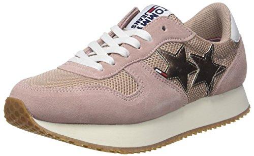 Hilfiger Denim Damen Tommy Jeans Star Sneaker, Pink (Mahogany Rose 634), 42 EU