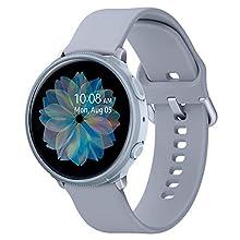 Spigen Liquid Air Armor Compatible with Samsung Galaxy Watch Active 2 Case 44mm (2019) - Cloud Silver