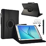 Tablet Schutzhülle 10.1 Zoll für Jay-Tech TXE10DW Hülle Etui Case mit Touch Pen & Webcam-Abdeckung- Schwarz 3in1