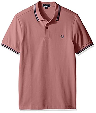 Fred Perry Hommes double pointe chemise polo m3600 S Chalk Pink/Regal/Teal
