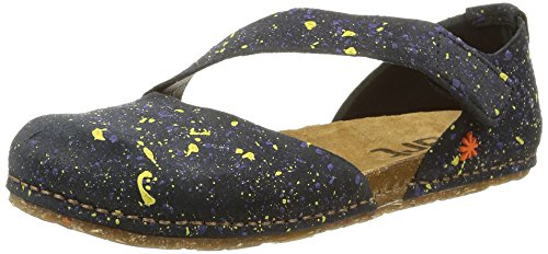 art - Creta Enclosed Toe, Sandali eleganti  per bambine e ragazze Multicolore (Dotted Black)