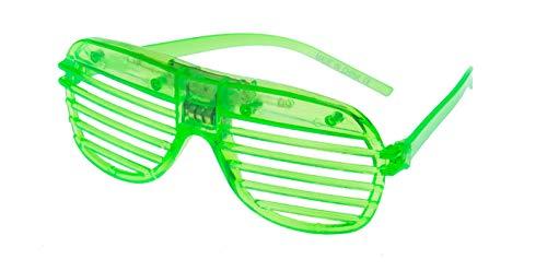 Grün Blinkende LED Shutter Style Brille Glow Slotted Plastic Leuchten Shades Brillen Sonnenbrillen Für Musikkonzerte Crazy Parties Halloween Rave