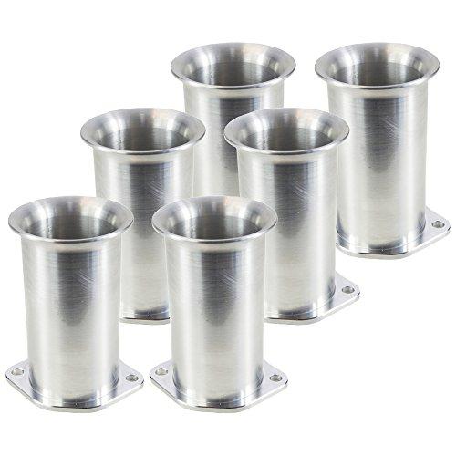 Ramair Filters Bot-40–75–6PK Weber dcoe 40mm perno de velocidad pila de trompeta, 75mm, juego de 6