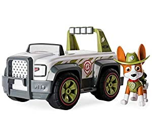 Nickelodeon Paw Patrol Tracker Jungle Cruiser Vehicle and Figure