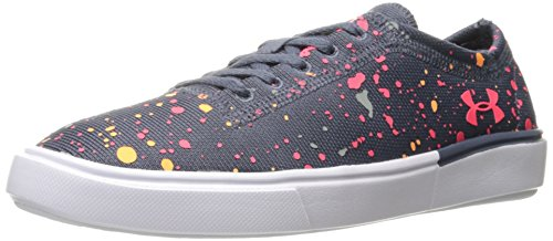 Under Armour Girls' Grade School KickIt2 Splatter, Apollo Gray/White/Penta Pink, 5.5 M US Big Kid (Big School Kids Sneakers)