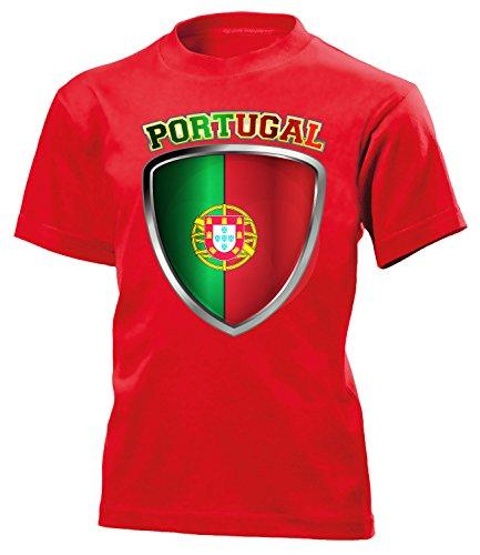 Portugal Fan t Shirt Artikel 4692 Fuss Ball Kinder Kids Jungen Mädchen Unisex EM 2020 WM 2022 camisola Trikot Look Flagge Fahne Futebol Team 152