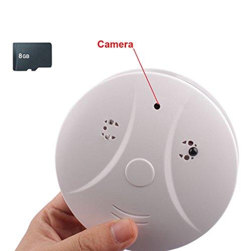 Mengshen 8GB 1280x960 HD versteckte Kamera Rauchmelder Stil Video Audeo Recorder für Indoor Home / Shops / Warehouse Sicherheit Camcorder mit Fernbedienung MS-YC01HC (Security-kameras Spy)