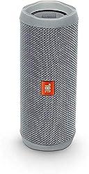JBL Flip 4 Bluetooth Box - Wasserdichter, tragbarer Lautsprecher mit Freisprechfunktion und Alexa-Integration - Bis zu 12 Stunden Wireless Streaming mit nur einer Akku-Ladung Grau
