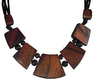 Halskette aus Sonor-Wood, Holz-Schmuck Modeschmuck, Natur-Schmuck