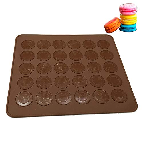 Hosaire Kuchenform Antihaft Silikon Backmatte Backfolie Backform Kuchen Keks Form Backblech für 30 Macarons Makronen Kaffee Cake mold