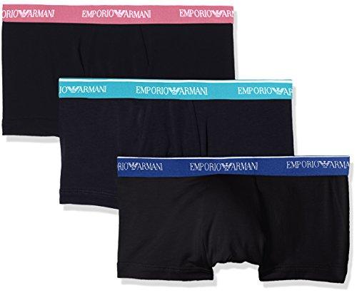 Emporio Armani Underwear Herren 1113578P717 Hipster, Schwarz (Nero 50620), X-Large (erPack 3