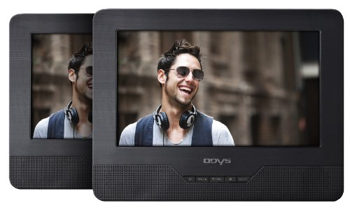 Odys Seal 7 tragbarer DVD-Player mit zusätzlichem Bildschirm (17,8 cm (7 Zoll) TFT-Display, USB, SD-Card) schwarz