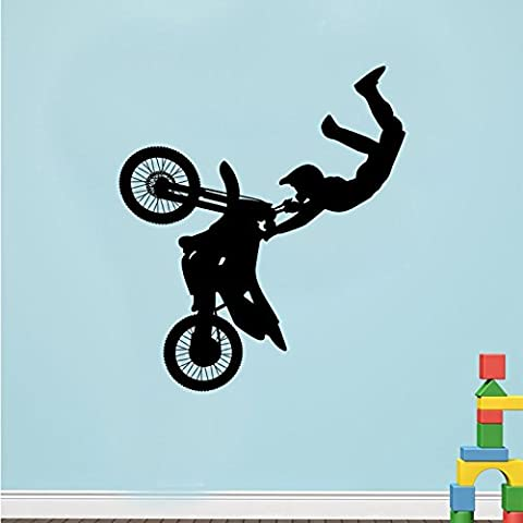 Cool Man de Course de moto Sticker mural vinyle Art
