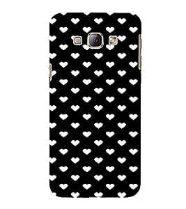 For Samsung Galaxy A8 (2015) :: Samsung Galaxy A8 Duos (2015) :: Samsung Galaxy A8 A800F A800Y Heart, Black, beautiful, Amazing Pattern, Printed Designer Back Case Cover By CHAPLOOS