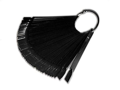 Striper Glitter (Präsentationsfächer Ring Schwarz Tips Display mit 48 Tips Color Pops Nailart RM Beautynails)