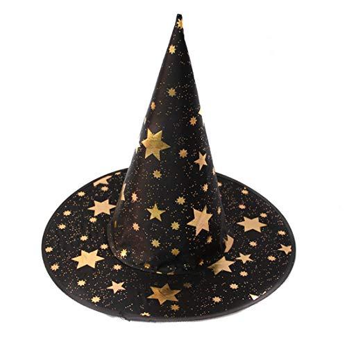 Partiss Halloween Hexenhut mit Stern Zaubererhut Halloween Hexen -