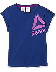 Reebok BR7220, Camiseta Para Niñas, Azul (deecob), 2XS
