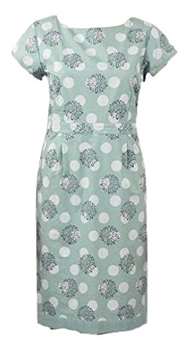 brand-new-ex-top-high-street-store-vintage-style-sea-green-daisy-polka-dot-print-poplin-tea-tunic-dr