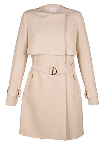 Damen Mantel in modischer, neuer Form by Alba Moda White Creme/Gold